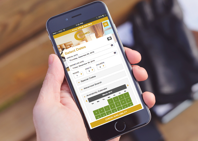 Mobile Enabled - Hotel Booking Engine