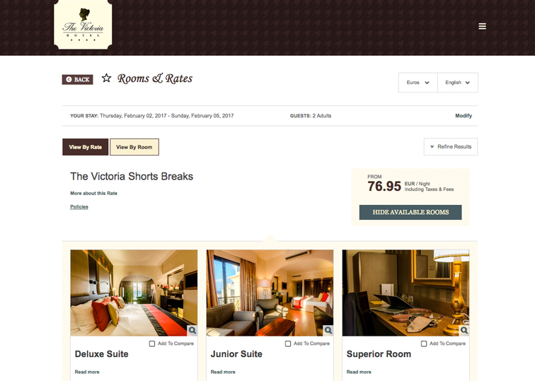 Visually Engaging - Hotel Booking Engine