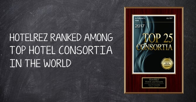 HotelREZ listed among world's top 25 hotel consortia