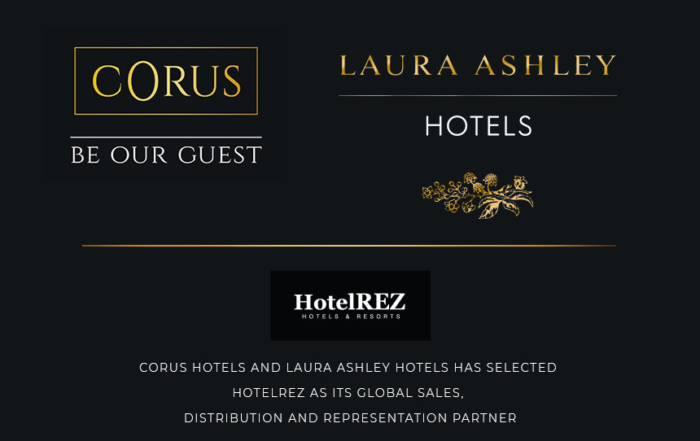 Corus Hotels and Laura Ashley Hotels has selected HotelREZ