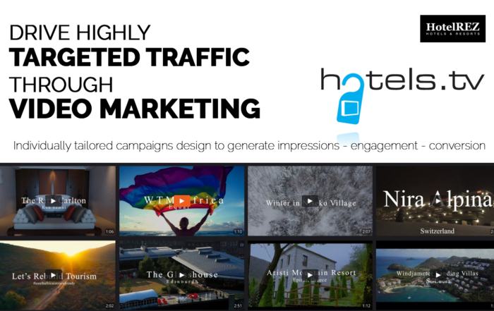 HotelREZ Hotels & Resorts and Hotels.TV enter Partnership as Hotel Video Views Rocket Globally